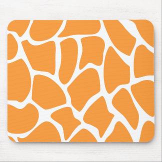 Orange Giraffe Print Pattern. Mousepad