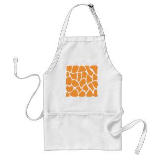 Orange Giraffe Print Pattern. Standard Apron