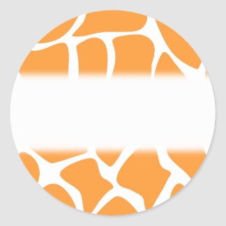 Orange Giraffe Print Pattern. Stickers