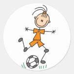 Orange Girls Soccer Sticker