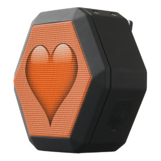 Orange Glass Heart Customizable
