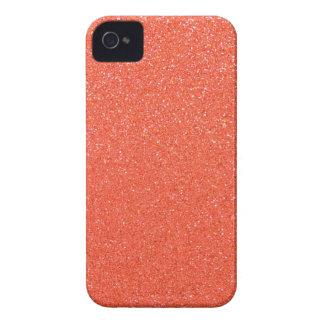 Orange glitter Case-Mate iPhone 4 cases