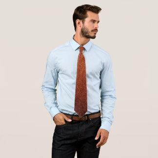 Orange glitter tie