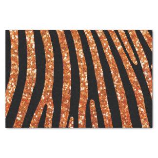 Orange Glitter Zebra Stripe Tissue Paper