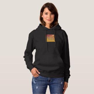Orange Glow Hippy Angel Logo Sweatshirt Hoodie
