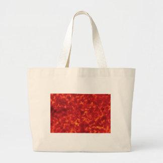 orange glow of lava large tote bag
