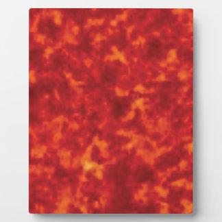 orange glow of lava plaque