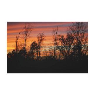 Orange Glow Sunset Stretched Canvas Print