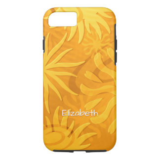 orange gold abstract sun shapes iPhone 8/7 case