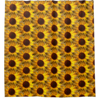 Orange Gold Daisy Flower accent Shower Curtain