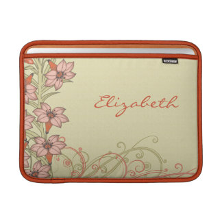 Orange Gold Lily Flowers MacBook Air Sleeve