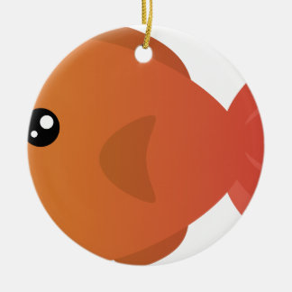 Orange Goldfish Cartoon Ceramic Ornament
