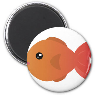 Orange Goldfish Cartoon Magnet