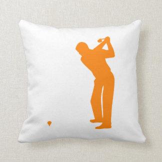 Orange Golf Throw Pillow