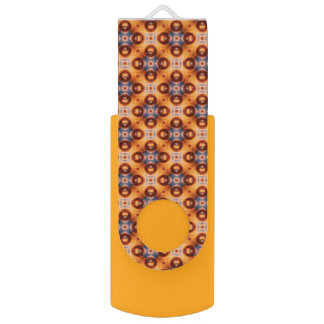 Orange Gradient Retro Mosaic Pattern USB Flash Drive