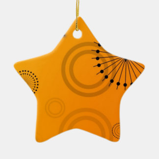orange gradient star ornament