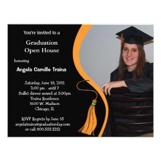 Orange Graduation Announcement Open House