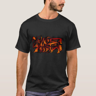 orange graffiti T-Shirt