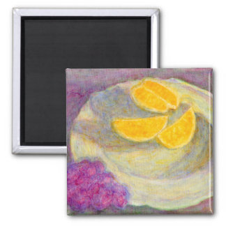 Orange, Grapes and Plate, Magnet