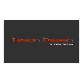 Orange Gray Modern Minimalistic Business Card