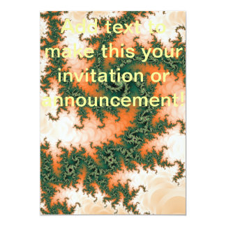 Orange Green Abstract Swirl 13 Cm X 18 Cm Invitation Card