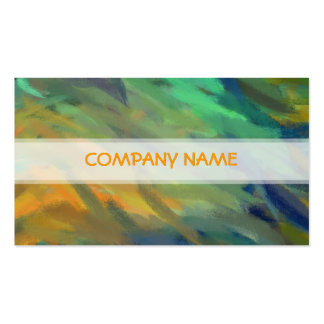 Orange Green Blue Abstract Art Painting Pack Of Standard Business Cards