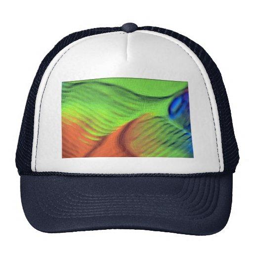 Orange-green blue swells mesh hats