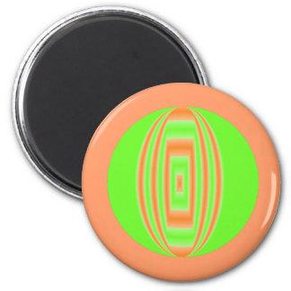 orange green circle refrigerator magnet