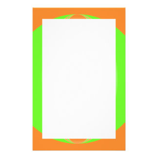 orange green circle custom stationery