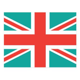 Orange Green Classic Union Jack British(UK) Flag Postcards