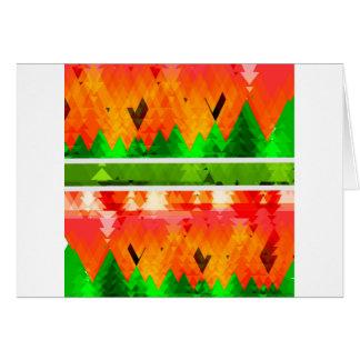 Orange Green Fall themed Wallpaper Card