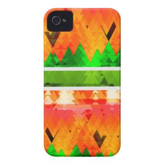 Orange Green Fall themed Wallpaper iPhone 4 Case