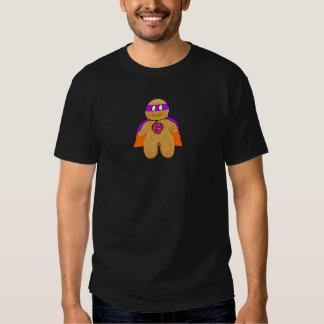orange/ green gingerbread man super hero t-shirt