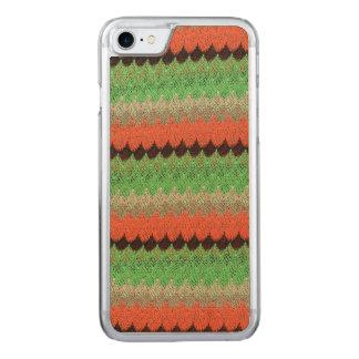 Orange Green Knit Crochet Black Lace Carved iPhone 7 Case