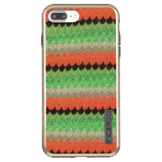 Orange Green Knit Crochet Black Lace Incipio DualPro Shine iPhone 8 Plus/7 Plus Case