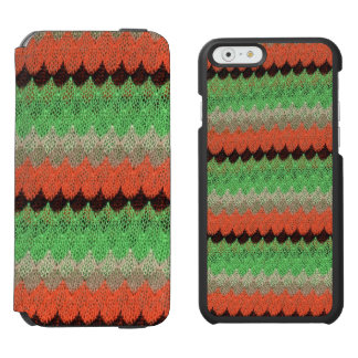 Orange Green Knit Crochet Black Lace Incipio Watson™ iPhone 6 Wallet Case