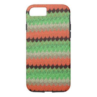Orange Green Knit Crochet Black Lace iPhone 7 Case
