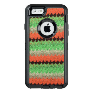 Orange Green Knit Crochet Black Lace OtterBox Defender iPhone Case