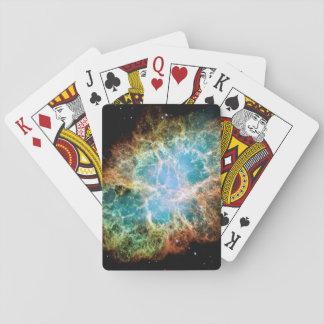 Orange & Green Nebula Playing Cards
