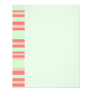 orange green stripes 11.5 cm x 14 cm flyer