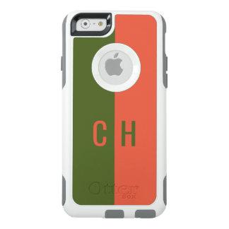 Orange & Green Stripes custom monogram phone cases