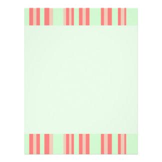 orange green stripes flyers