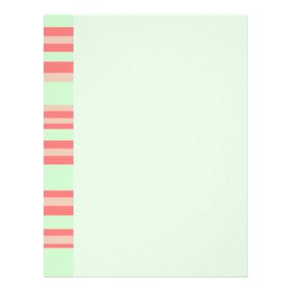 orange green stripes full color flyer