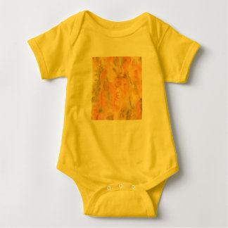 Orange Green Watercolor Baby Jersey Bodysuit