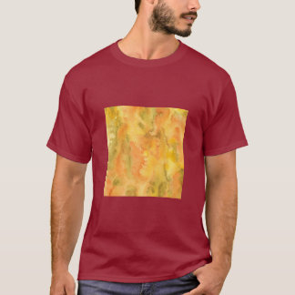 Orange Green Watercolor Men's Basic T-Shirt