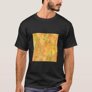 Orange Green Watercolor Men's Basic T-Shirt