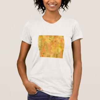 Orange Green Watercolor Women's Jersey T-Shirt