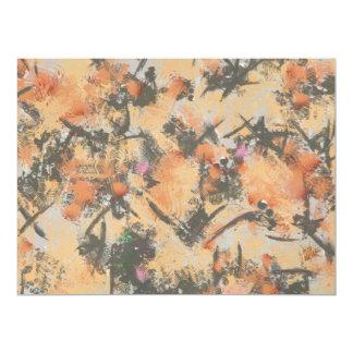 Orange grey abstract design invites