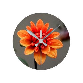 Orange & Grey Round Clock