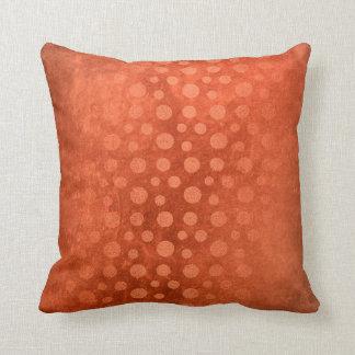 Orange Grungy Brick Dots Sepia Contemporary Cushion
